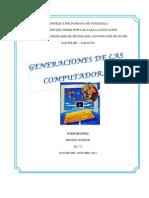 Yela Generaciones de Las Computadoras