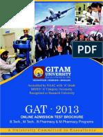 2013 GITAM (GAT) Brochure