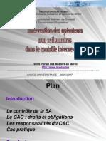 Role Des Operateurs Non Actionnaires Dans Le Controle Interne de Sa (1)