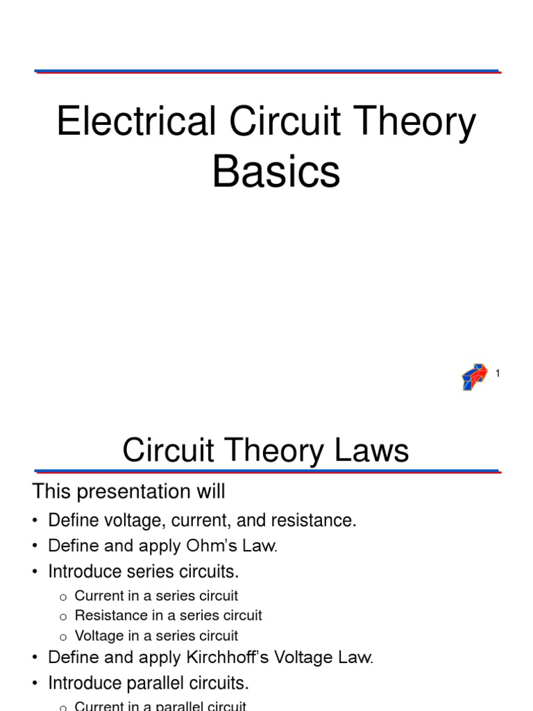 Circuit Theory Basics Series And Parallel Circuits Electric Current