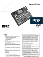 Korg D4 digital recorder mixer user manual