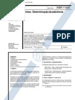 Abnt - Nbr 11003 - Determinacao de Aderencia de Tintas
