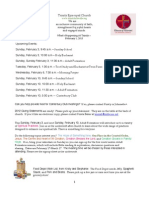 What's Happening At Trinity, February 2, 2013