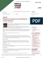 Proyecto de Reformas a La Ley Federal Del Trabajo Aprobado