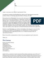 paul bially external announcement feb 16 2009