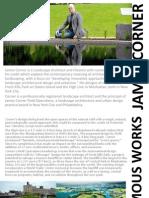 landscape architects- james corner and antoni gaudi