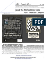 1001 - Maine Lawsuit Against the IRS for Unfair Trade Practices