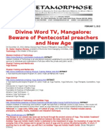 DIVINE WORD TV MANGALORE-BEWARE OF PENTECOSTAL PREACHERS AND NEW AGE