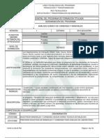 Infome Programa de Formación Titulada (1)ANÁLISIS QUÍMICO DE CARBONES Y MINERALES