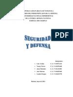 La Seguridad y Defensa Nacional
