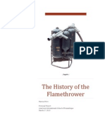 the history of the flamethrower final