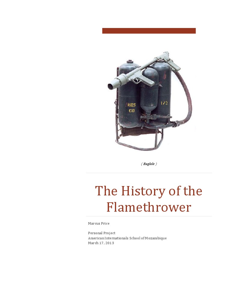 the history of the flamethrower final | Wildfire (177 views)