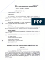Reglamento d Ela Ley Del Trabajo Del Quimico Farmaceutico