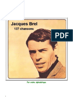 Jacques Brel Paroles de 137 Chansons