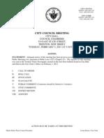 City Council Agenda and Docket