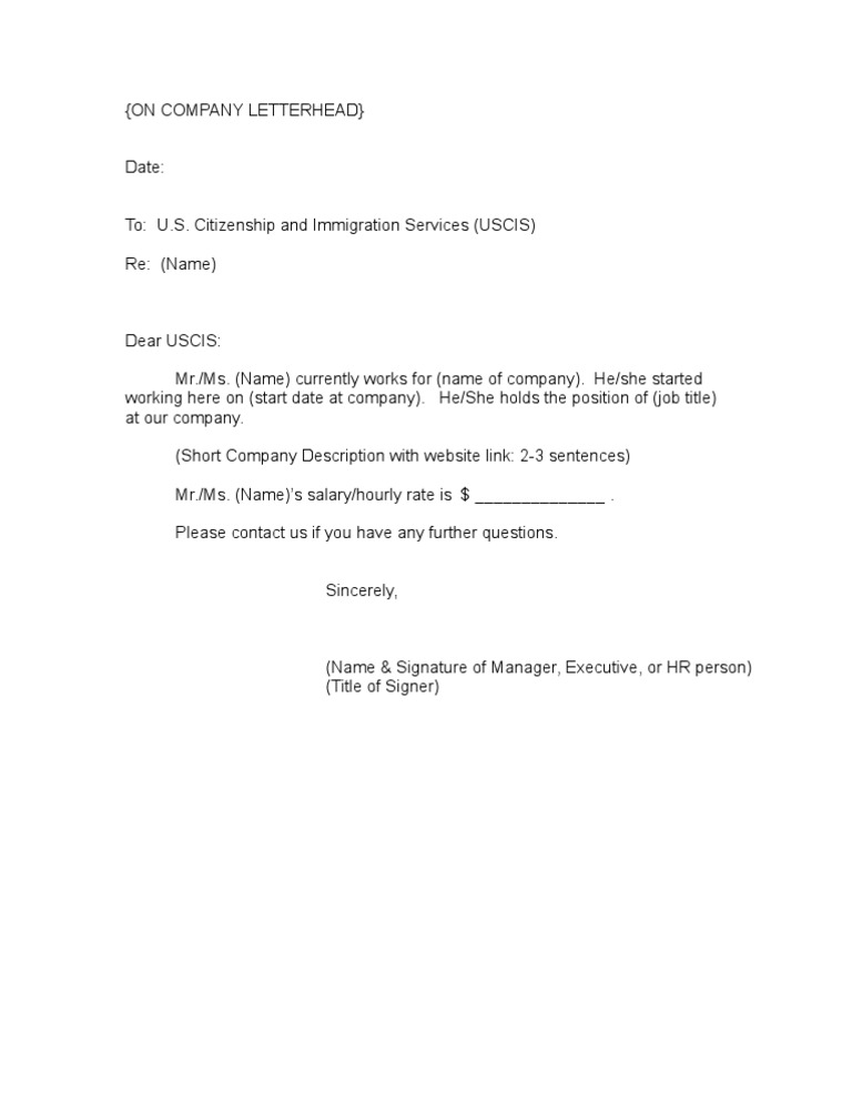Sample Employment Verification – Job Verification Letter