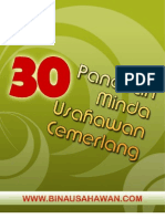 30 PANDUAN MINDA USAHAWAN CEMERLANG