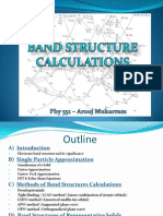 Electronic Band Structure Calculations