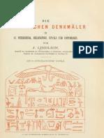 Lieblein, J - Die aegyptischen denkmäler in St. Petersburg, Helsingfors, Upsala und Copenhagen (1873)