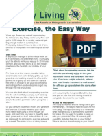 EXCERCISE THE EASY WAY