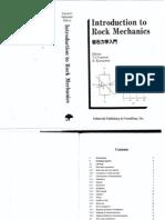 Vutukuri Katsuyama Introduction to Rock Mechanics