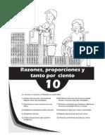 Matematica 6to - Unidad 10 - Razones, Proporciones y Tanto Por Ciento