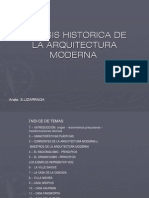 Síntesis histórica de la arquitectura moderna