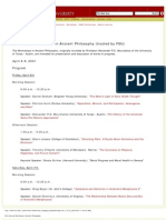2001 4th Annual Workshop in Ancient Philosophy