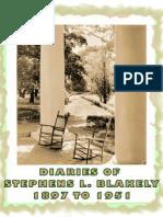 DIARIES OF STEPHENS LAURIE BLAKELY