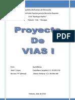 Proyecto Vias I 2012
