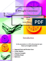 Causes of wrongful conviction