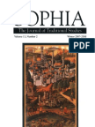 Sophia - Journal of Traditional Studies - winter 2007 issue