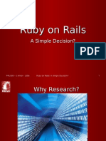 Ruby on Rails Power Point