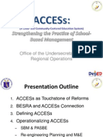 ACCESs and the Revised SBM