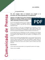 FES UGT Aragón insta al Gobierno de Aragón a la exclusión de varias empresas por incumplimiento
