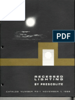 Prescolite Recessed Lighting Catalog RS-1 1966