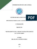 1.MEJORAMIENTO DE  LA PRODUCCIÒN DE LECHE EN EL CANTON GIRON