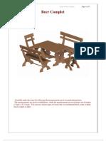 Planos para mesa y bancas de jardín o terraza