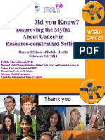 Cancer- Did you Know? Disproving the Myths About Cancer in Resource-constrained Settings