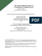 Manual de Tratamiento Para La Terapia Cognitivo Conductual