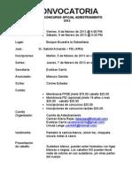 Convocatoria Concurso # 1 Adiestramiento FPDE 2013