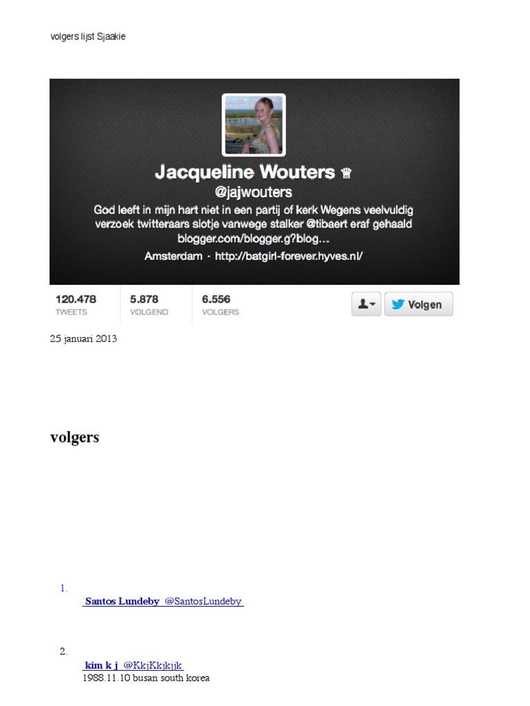 2a63dddecaf4 Volgerslijst Jacqueline Wouters