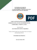 """ADECUACIÓN DEL SISTEMA ELÉCTRICO DE EMERGENCIA DE LA PLANTA DE DISTRIBUCIÓN DE COMBUSTIBLE – PUERTO LA CRUZ"""""""