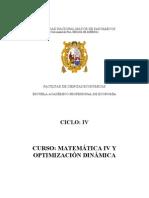 4to Matematica IV Optimizacion Dinamica