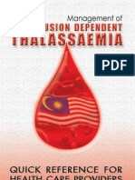Quick Reference of Thallasemia
