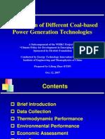 comparison of coal based power plants