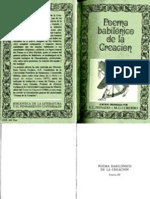 Poema Babilonico De La Creacion Anonimo Sumeria