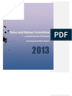 YDM Rules and Bylaws Committee Report - 2013