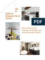 Interior Design & Renovation Guide for Singapore Home Owners