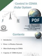 Power Control In CDMA Systems
